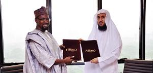توقيع مذكرة التفاهم خلال زيارة نائب مدير جامعة القلم بنيجيريا لجامعة المدينة العالمية
